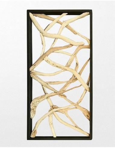 CLOISON EN TECK - 100 x 200 cm
